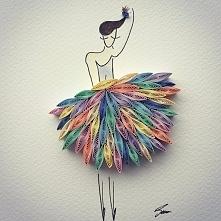 Baletnica w papierowej sukience