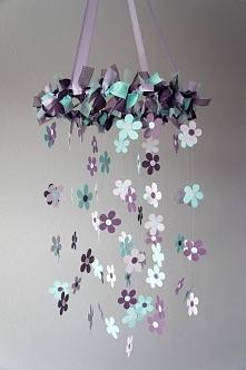 Motyw dekoracyjny we wnętrzu - kwiaty w pokoju malucha