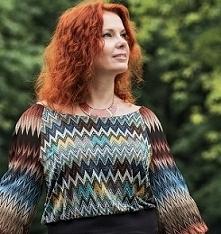 Zainspirowana cudownymi tkaninami Missoni postanowiłam uszyć swoją sukienkę i...