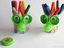 """Pojemniki na kredki """"zrób to sam"""" Containers for pencils"""
