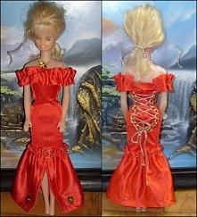 Suknia wieczorowa z gorsetem dla Barbie