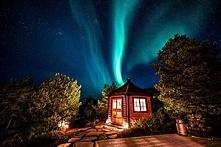 Jeden z norweskich domków.