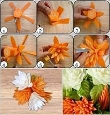 kwiatuszek z marchewki