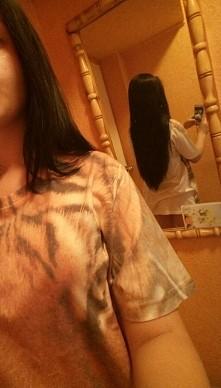 czarne, proste włosy ^^