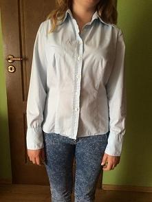 błękitna koszula damska rozmiar M  35zł dostępna na allegro pod nazwą: błękit...