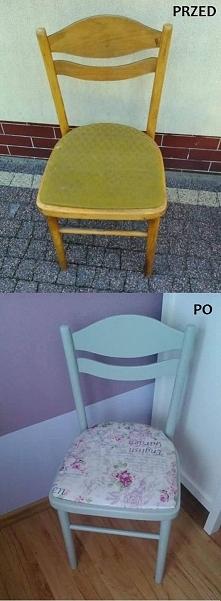 Moja mała przeróbka krzesła. Co Wy na to?