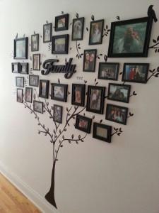 Aranżacja ściany - drzewo genealogiczne