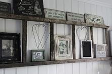 Drabina - półka na dekoracje