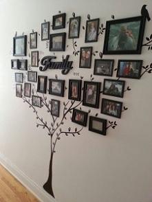 Aranżacja ściany - drzewo g...