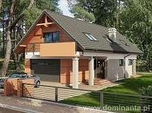 Projekt domu na wąska działkę - szach 2G