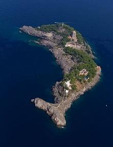 Wyspa w kształcie delfina, Włochy.