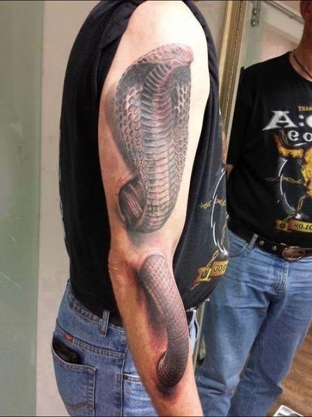 Tatuaże Na Ręce Kobra 3d Na Tatuaże Zszywkapl