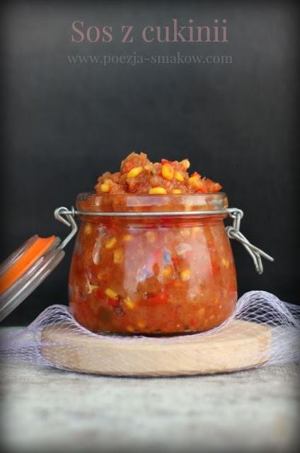 Sos z cukinii, do mięs i makaronów ( wersja pasteryzowana). Kliknij w zdjęcie po przepis.
