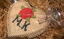 Maxi ciastko ślubne z życzeniami.....