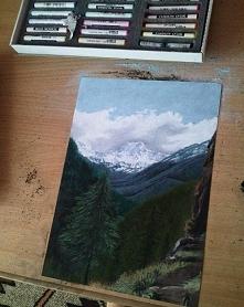 Praca wzorowana zdjęciem, wykonana pastelami, czas pracy około 4h :)