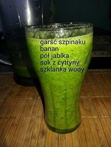 zielony koktajl- wystarczy zblendować :)