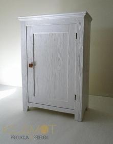 Biała szafka vintage - turk...