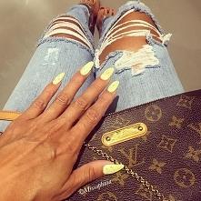 paznokcie#żółte#pastelowe
