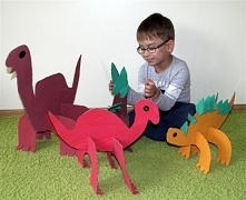 zajmij dziecku czas - tekturowe dinozaury