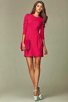 Elegancka Sukienka Bombka Różowa