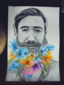 ✿ ☽ Speed drawing: Hipster beard flower men ☾ ✿   W komentarzu pod zdjęciem z...