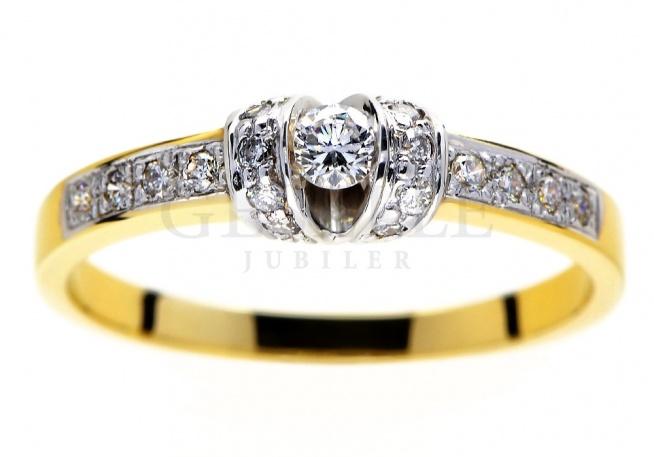 Wz 455 Złoty Pierścionek Zaręczynowy W Stylu Tiffany Z Brylanta Na