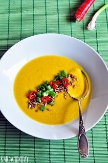 Przypomnienie przepisu na zupę krem z kukurydzy.