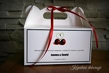 Ciasto weselne też trzeba ładnie zapakować Emotikon smile Oto nasza propozycj...