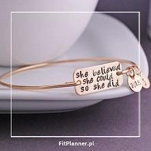 """""""Uwierzyła, że może i zrobiła to"""" ❤️ ❤️ ❤️  Piękna motywująca biżuteria sportowa !"""