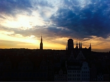 moje kochane miasto GDAŃSK. Zdjęcie zrobione zostało przeze mnie na kole wido...
