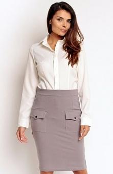 Nommo NA84 spódnica grafitowa Modna spódnica, wykonana z gładkiej bawełny, do...