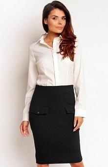 Nommo NA84 spódnica czarna Modna spódnica, wykonana z gładkiej bawełny, dopas...