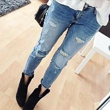 spodnie z dziurami ;) kto nosi? ❤
