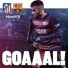 Barca wyrownuje z Atletico ! Gracias Neymar ! Wchodzi Messi ! Barca do Ataku ! <3