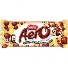 Baton/czekolada Aero mleczny z białą czekoladą,Nesle