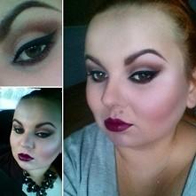 Nadrabiam zaległości :) Jesienny make-up, mocne usta..
