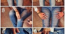 każda z was ma pewnie jakieś jeansy w których nie chętnie chodzi choć są w dobrym stanie.. kliknijcie w zdjęcie i zobaczcie co można z nimi zrobić , na pewno wam coś się spodoba...