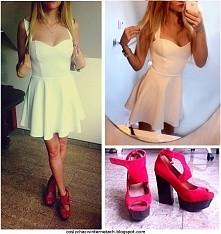 czerwone buty+ biała sukienka. Więcej na blogu: coslychacwinternetach.blogspo...
