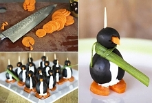 pingwinek z marchewki i cie...