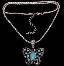 Naszyjnik z zawieszką-motyl...