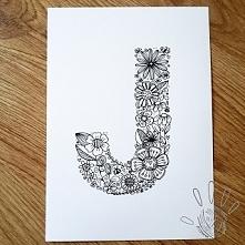 Ręcznie malowana literka (n...