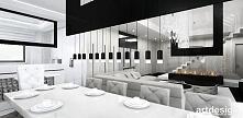 salon z jadalnią - jasne wnętrze | ACCELERATED ARCHITECTURE