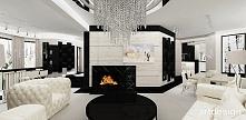 salon z kominkiem - eleganckie wnętrze | RADIANT BEAUTY
