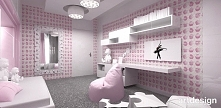 oryginalna aranżacja pokoju dziecięcego - różowy pokój dla dziewczynki | FIRS...