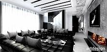 elegancki salon z kominkiem - projektowanie wnętrz domu | YOUR STORY, OUR STORY