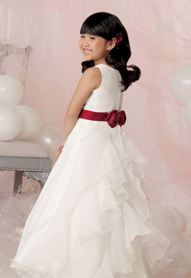 Organza Satin Dress By Jordan Sweet Beginnings Collection L629