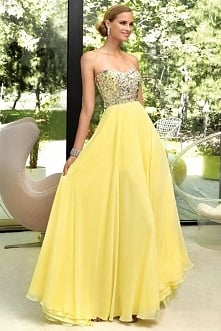 Floor Length Chiffon Sequins A-line Prom Dress