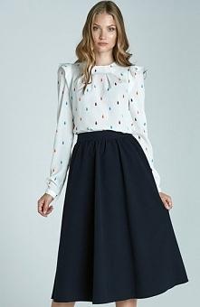Nife SP28 spódnica granatowa Elegancka spódnica, modny fason, wykonana z gład...