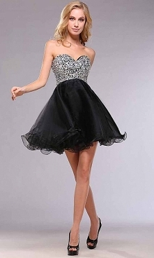 Cute Short Sequin Empire Sh...