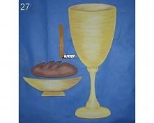 Zestaw dekoracji eucharystycznych (Efekt Płótna wykonany przez plastyka)   - ...